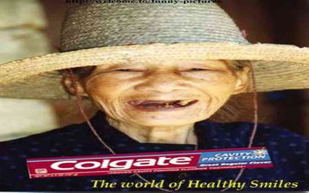 Publicité pour Colgate .